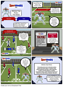 SportRivalry.com Comic Harvard vs. Yale NEW