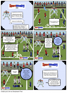 SportRivalry.com Comic Hurt Player NEW