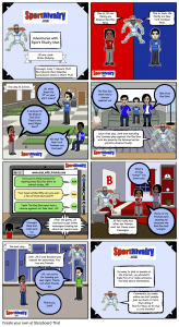 SportRivalry.com Comic Online Bullying NEW