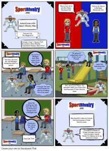 SportRivalry.com Comic Playground NEW