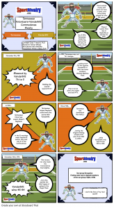 SportRivalry.com Comic Tennessee vs. Vanderbilt NEW